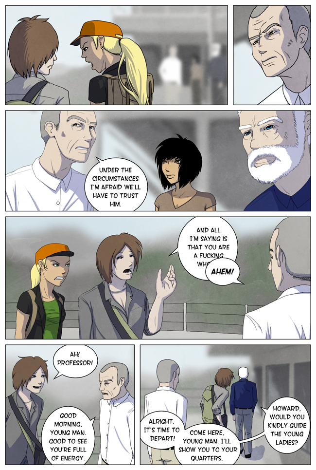 Bereft prologue: Turn The Page, page 18. A modern adventure webcomic!